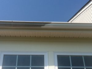 Power washing gutters in nova