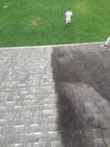 A picture of roof cleaning and power washing in nova